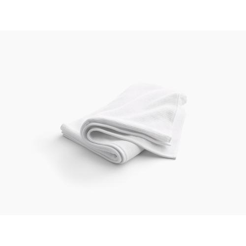 """Thunder Grey Bath Towel With Textured Weave, 30"""" X 58"""""""