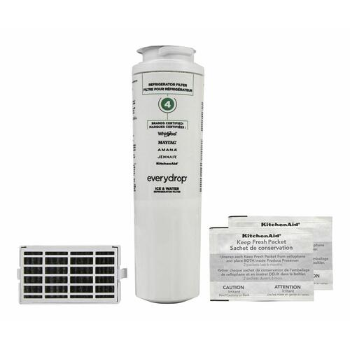 Gallery - Everydrop® Refrigerator Water Filter 4 - EDR4RXD1 (Pack Of 1) + Refrigerator FreshFlow™ Air Filter + FreshFlow Produce Preserver Refill - Multi-Pack