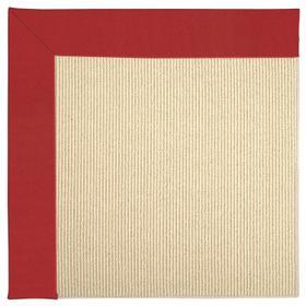 Creative Concepts-Beach Sisal Canvas Jockey Red Machine Tufted Rugs