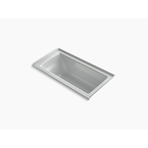 "Ice Grey 60"" X 30"" Alcove Bath With Integral Flange and Right-hand Drain"