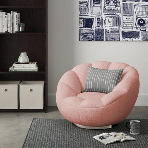 VIG Furniture - Modrest Dacano - Pink Sherpa Accent Chair