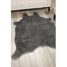 "Fur Fl101 Silver Grey 60"" X 84"" Throw Blanket"
