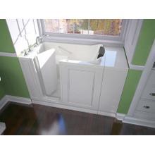 Luxury Series 28x48-inch Left Drain Walk-in Bathtub Whirlpool with Tub Faucet  American Standard - White