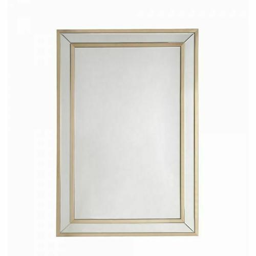 ACME Osma Accent Mirror (Wall) - 97038 - Mirrored & Gold