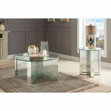 ACME Nysa Coffee Table - 80215 - Mirrored & Faux Crystals