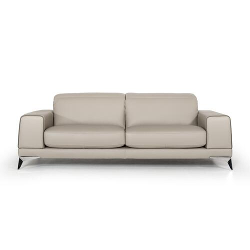 VIG Furniture - Estro Salotti Bolton Italian Modern Grey Leather Sofa Set