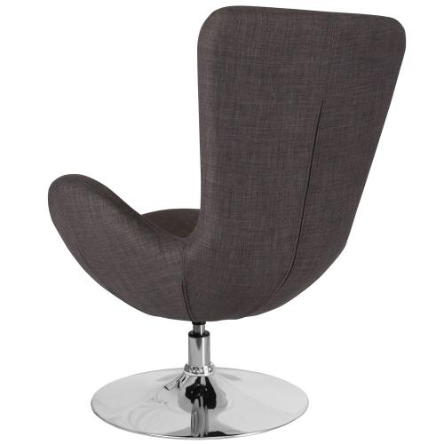 Dark Gray Fabric Side Reception Chair