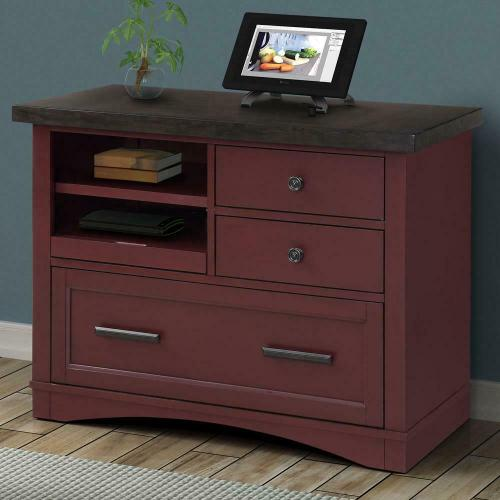 Product Image - AMERICANA MODERN - CRANBERRY Functional File with Power Center