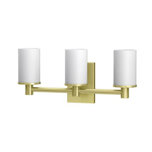 Modern Farmhouse Lighting Sconces in Bright Brushed Brass
