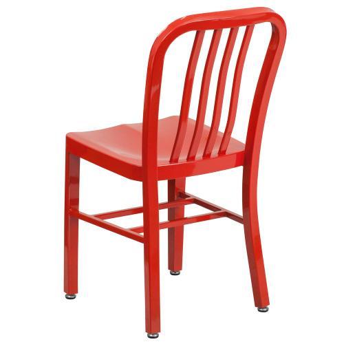 Red Metal Indoor-Outdoor Chair