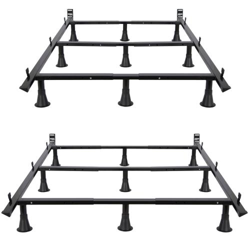 Leggett and Platt - Prestige Premium Adjustable Bed Frame P56 with Push-Pin Size Adjustment and Oversized Recessed Glide Legs, Queen - King