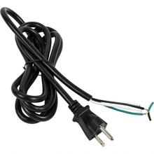 See Details - Black 18/3 SJT Electrical Cord, 6ft