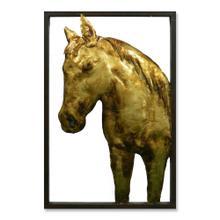 Golden Stallion I 16x24 Suspended Metal Wall Art