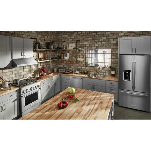 KitchenAid Canada - KitchenAid® 30'' Smart Commercial-Style Gas Range with 4 Burners - Heritage Stainless Steel