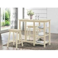 ACME Nyssa 3Pc Pack Counter Height Set - 73052 - Buttermilk