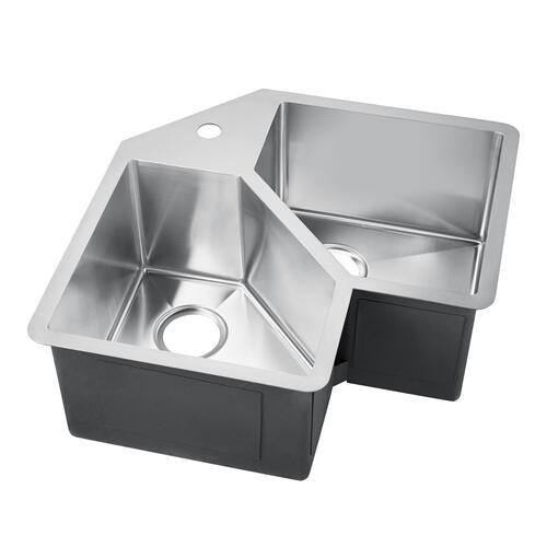 Montague Double Bowl Stainless Kitchen Sink