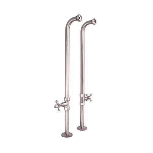 Freestanding Tub Supplies with Stops - Polished Nickel / 34-1/2""