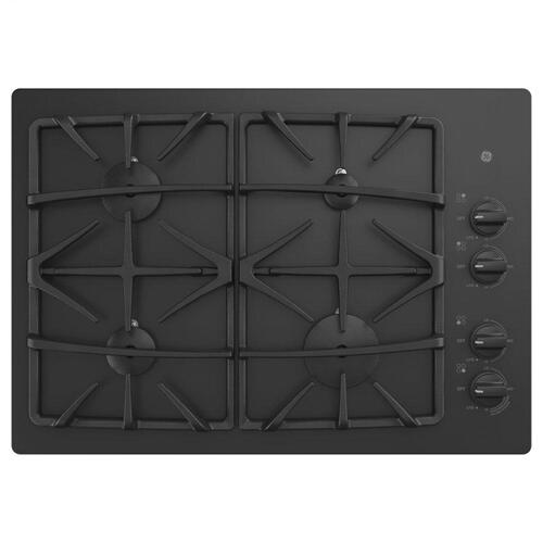 "GE® 30"" Built-In Gas on Glass Cooktop with Dishwasher Safe Grates"