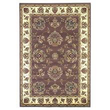 "Cambridge 7341 Plum/ivory Floral Mahal 5'3"" X 7'7"""