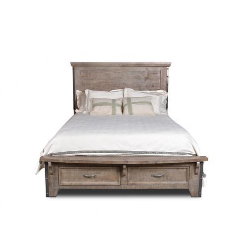 Horizon Home Furniture - Urban Rustic Gray Bed King
