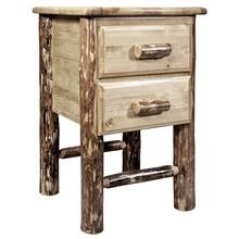 Glacier Country Collection Nightstand with 2 Drawers