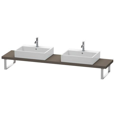 Product Image - Console For Above-counter Basin And Vanity Basin Compact, Flannel Gray Satin Matte (lacquer)
