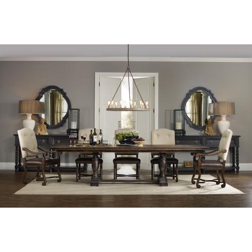 Hooker Furniture - Treviso Trestle Dining Table with Two 18'' Leaves