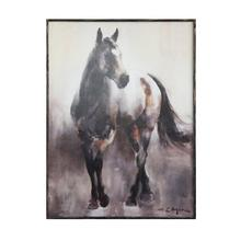 """See Details - 30""""L x 39-3/4""""H Wood Framed Wall Canvas w/ Horse"""