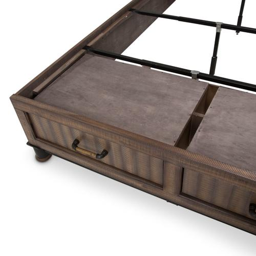 Eastern King Panel Bed W/ Drawers