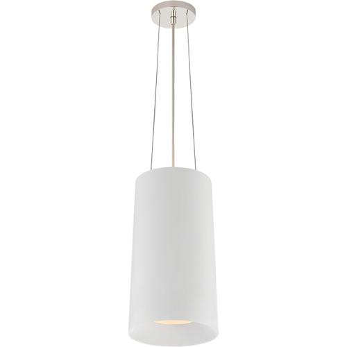 Visual Comfort - Barbara Barry Halo 1 Light 10 inch White Hanging Shade Ceiling Light, Tall