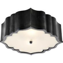 View Product - Alexa Hampton Balthazar 3 Light 14 inch Gun Metal Flush Mount Ceiling Light