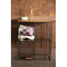 See Details - four cubby console with wooden top