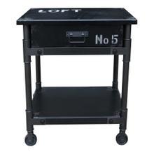 See Details - Soho 1 Drawer Cabinet Black