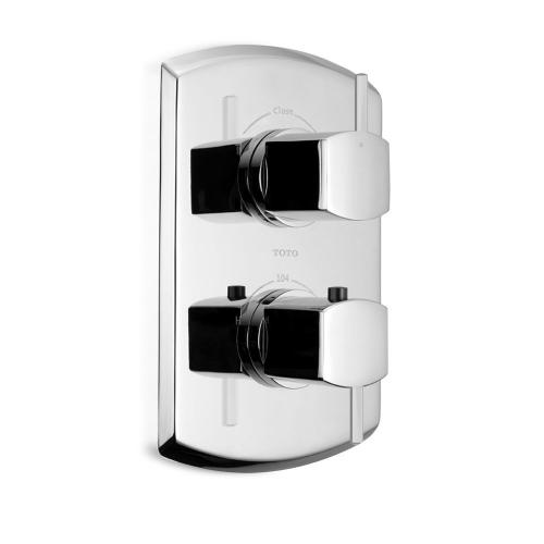 Soirée® Thermostatic Mixing Valve Trim with Dual Volume Control and Lever Handles - Polished Chrome Finish