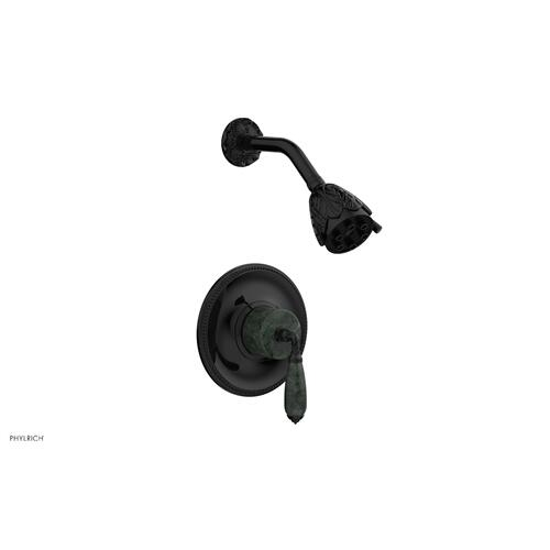 VALENCIA Pressure Balance Shower Set PB3338F - Gloss Black
