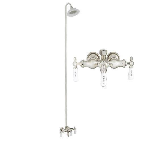 Tub/Shower Converto Unit - Diverter Faucet, Old Style Spigot, Sunflower Showerhead for Cast Iron Tub
