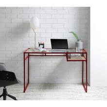 di, red office desk