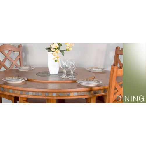 "Sedona 60""R Table w/ Lazy Susan"