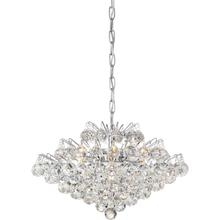 View Product - Bordeaux With Clear Crystal Pendant in Polished Chrome