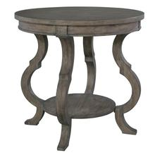 2-3506 Lincoln Park Round Lamp Table with Shaped Legs