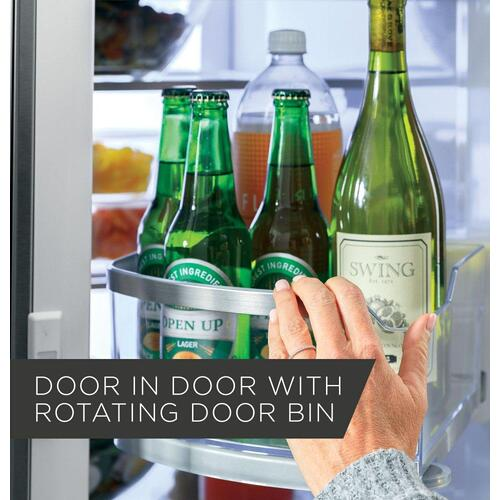 GE Profile™ Series 22.1 Cu. Ft. Counter-Depth Fingerprint Resistant French-Door Refrigerator with Door In Door and Hands-Free AutoFill