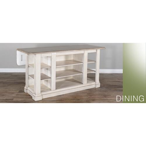 Westwood Village Kitchen Island Table w/ Drop Leaf