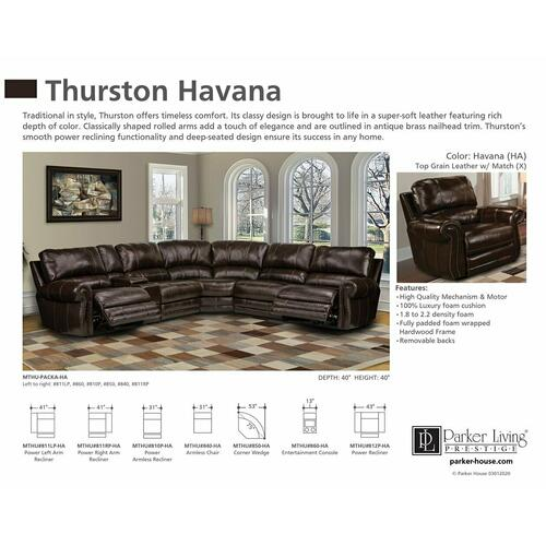 THURSTON - HAVANA Power Left Arm Facing Recliner