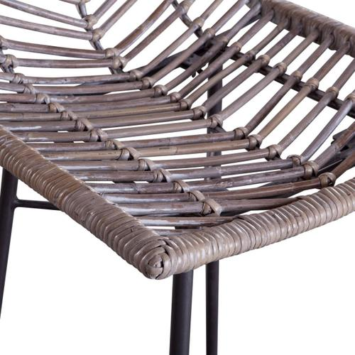 Kubu Bar Chair Gray Whitewash