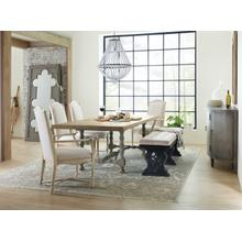 View Product - Ciao Bella 84in Trestle Table w/ 2-18in Leaves-Natural/Gray
