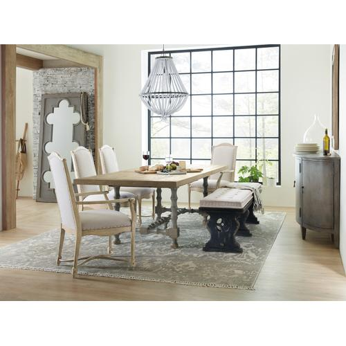 Hooker Furniture - Ciao Bella 84in Trestle Table w/ 2-18in Leaves-Natural/Gray