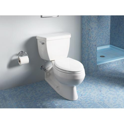 White Two-piece Elongated 1.6 Gpf Toilet With Pressure Lite Flushing Technology and Left-hand Trip Lever