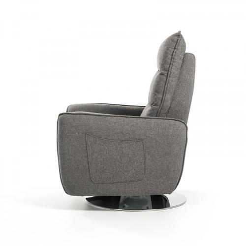 VIG Furniture - Divani Casa Fairfax Modern Grey Fabric Recliner Chair