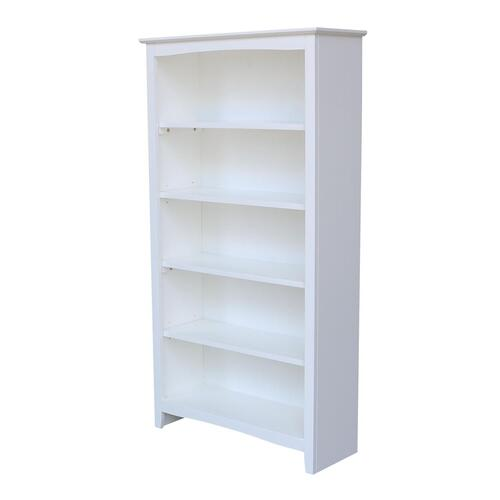 60'' H Shaker Bookcase