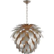 View Product - E. F. Chapman Cynara 6 Light 37 inch Burnished Silver Leaf Chandelier Ceiling Light, Grande